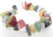 Mixed Freeform Gemstone Chip Bracelet