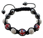 Shamballa Bling bling bracelet by BodyTrend © - Union & Clear Iced Balls - fits lovely on any wrist - perfect for a gift - packed in a cute velvet pochette - Fits 18cm to 22cm