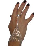 (6243) diamante ring bracelet silver
