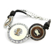 """Bracelet of 'french touch' """"Thalassa"""" beige brown."""