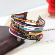 Women's Girl's Bracelet with Elephant Retro Fashion Colourful 17.5 - 22 cm Handmade With Gift Box