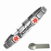 Pacemaker Medical Alert Nomination Style Stainless Steel Bracelet