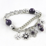 """'french touch' bracelet """"Capucines"""" purple."""