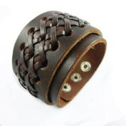 Antique Men's Leather Cuff Bracelet, Leather Wrist Band Wristband Handcrafted Jewellery Sl2440