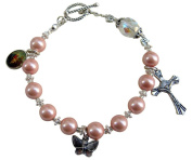 ~PEACH MAGNETIC HEMATITE~ HANDCRAFTED ROSARY BRACELET