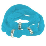 Ribbon bracelet made with. ELEMENTS - blue with three Rondelles