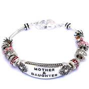 Holiday Birthday Gift for Mother Daughter Friend ID Multi Bead Sliding Charms Bracelet