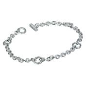 0.01 Carat Diamond Charm Bracelet in Sterling Silver