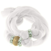 Ribbon bracelet made with. ELEMENTS - with three Rondelles and one Pearl Crystal Vintage Gold