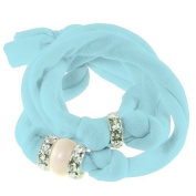 Ribbon bracelet made with. ELEMENTS - with three Rondelles and one Pearl Crystal Cream