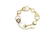 V.I.P Jewellery Gold Plated & Crystal Set Bracelet VIP 17G