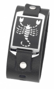 DOOSTI Zodiac Bracelet Sign Scorpio, Leder, Stainless Steel 316L