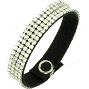 Crystals United luxury leather Mesh Bracelet - made with. ELEMENTS, Crystal