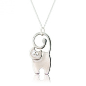 Silver Cat Pendant and Chain