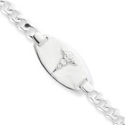Sterling Silver Medical Alert Curb Link Bracelet - JewelryWeb