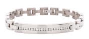 CEM titanium jewellery silver unisex bracelet Silver TPTS481
