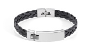 MORELLATO Groumette Black Leather Stainless Steel Bracelets SJT08