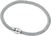 Elements Sterling Silver Ladies B4141 Popcorn Bracelet with Magnetic Clasp Length 19cm