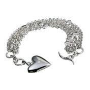0.01 Carat Diamond Bracelet in Sterling Silver