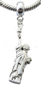 Silver charms by BodyTrend © - Statue of LIBERTY Design fits all pandora type bracelets & necklaces - hand finisned and polished to a fine jewellery standard - packed in a lovely velvet pouche