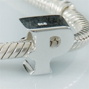 P - Initial Letter - Sterling Silver Charm Bead - fits Pandora, Chamilia etc style Bracelets - SpangleBead
