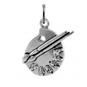 TheCharmWorks Sterling Silver Artist Palette Charm