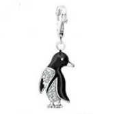 Dream Charms and Silver Jewellery Diamante Penguin Charm