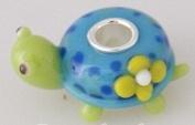 Turtle - Glass & Sterling Silver Charm Bead - fits Pandora, Chamilia etc style Bracelets - SpangleBead