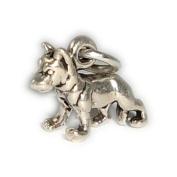 Charm Pendant Dog German Shepard 2 Sterling Silver 925
