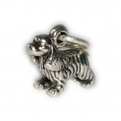 Charm Pendant Dog Cocker Spaniel 925 Sterling Silver