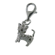 Sterling Silver Clip On Charm - CZ Cat For Thomas Sabo Style Charm Bracelets