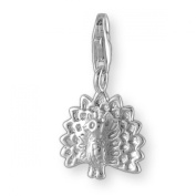 MELINA Charms clip on pendant peacock sterling silver 925