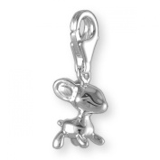 MELINA Charms clip on pendant deer bambi sterling silver 925