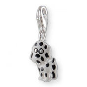MELINA Charms clip on pendant puppy dog sterling silver 925 enamel