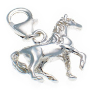 Welded Bliss Sterling 925 Silver Horse Lobster Clip On Charm WBC1310
