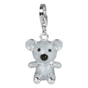 SilberDream Charms - Charm koala bear in 925 Sterling Silver, tarnish-proof - specially for Charm Bracelet, Necklace and Earrings - for women - FC608