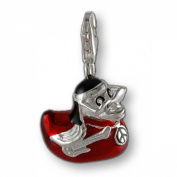 MELINA Charms clip on pendant hippie duck sterling silver 925 enamel