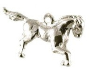 CLASSIC DESIGNS Sterling Silver 925 Horse Charm N504