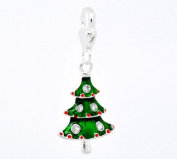 Silver Christmas Tree Clip On Charm Bead Will Fit Thomas Sabo Style Bracelets