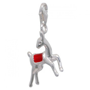 MELINA Charms clip on pendant Rudolph roe deer sterling silver 925