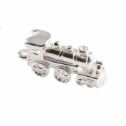 3D 925 Sterling Silver Charm - Steam Train / Locomotive - FREE UK POSTAGE