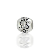 Bling Jewellery SIS 925 Sterling Silver Barrel Flower Bead Fits Pandora