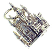 Welded Bliss Sterling 925 Silver Opening Fairy Castle, Ring or Clip On Charm WBC1369