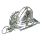Cowboy Hat sterling silver charm .925 x 1 Hats Cow Girl Cowboys charms SSLP1698