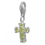 MELINA Charms clip on pendant cross sterling silver 925 zirconia