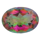Stunning 7mm x 5mm loose oval cut Natural Mystic Topaz uks best price 0.82ct
