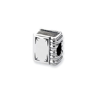 Black Bow Jewellery Company : Sterling Silver Book Charm for 3mm Charm Bracelets