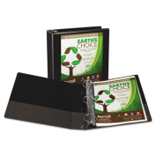 """Earth's Choice Biodegradable Angle-D Ring View Binder, 2"""" Capacity, Black"""