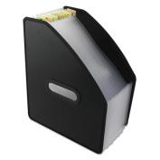 """Vertical Expanding File, 13-Pocket, 10"""" Expansion, Letter, Poly, Black"""