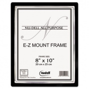 Glolite Nudell 13800 Ez Mount Ii Document Frame, Plastic, 8 X 10, Black/silver
